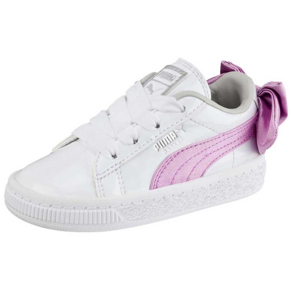 Puma Unisex Kids Basket Bow Patent Sneaker: Buy Online at
