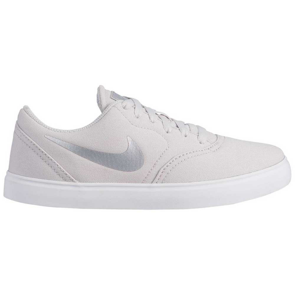 Recurso visitante Inclinado  Nike SB Check Solarsoft Canvas Ess+ GS Grey, Kidinn
