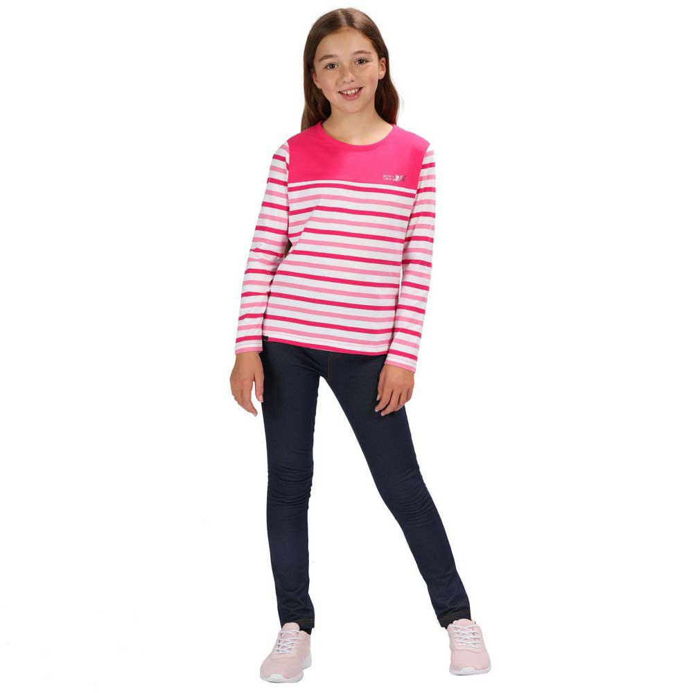 Regatta Childrens Calamity Coolweave Cotton Striped Jersey Top