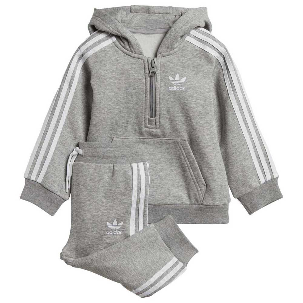 adidas originals Fleece Half Zip Hood Infant Gris, Kidinn