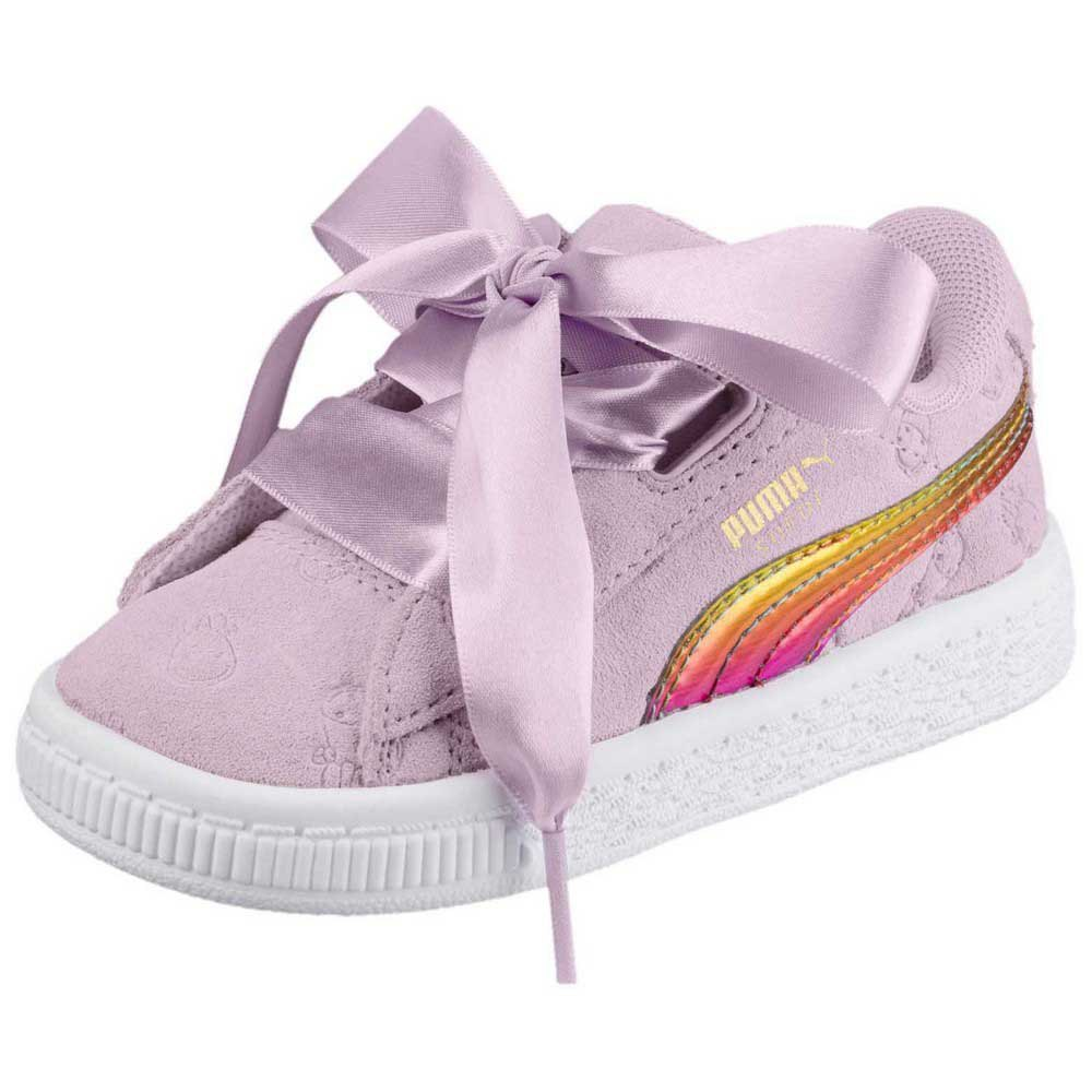 Puma Minions Suede Heart Fluffy Ps Pink