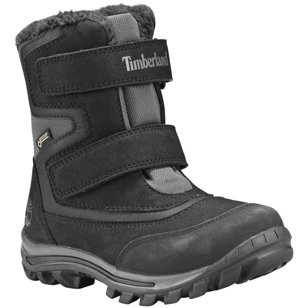 Timberland Killington Junior Black Chukka Boots Kids Leather Winter Shoes