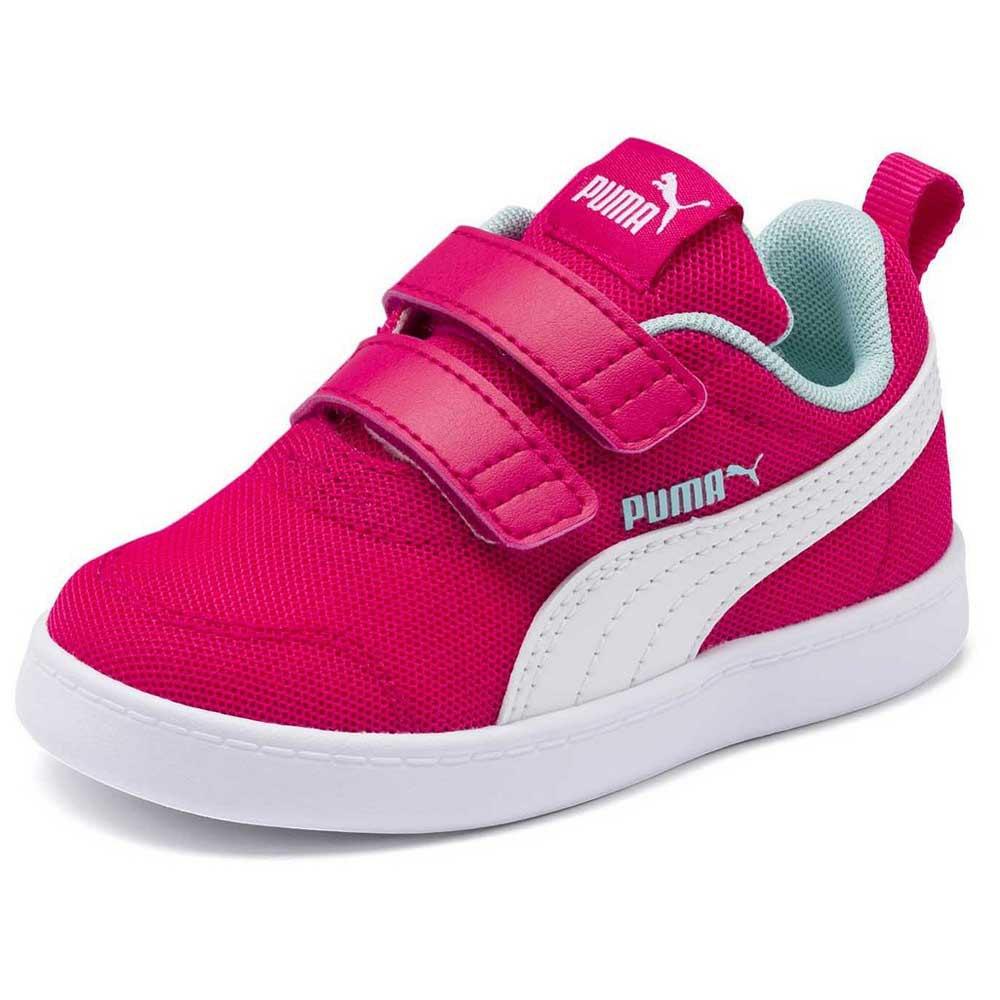 Puma Courtflex v2 Mesh Velcro Infant Pink, Kidinn
