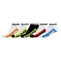 Globe Multi Brights Ankle 5 Pairs Socks