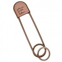 Petunia pickle bottom Safety Pin Keychain
