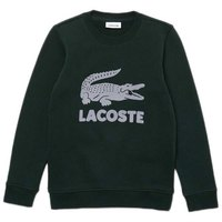 Lacoste Logo Print Crew Unbrushed Cotton Blend