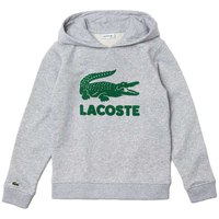 Lacoste Logo Print Unbrushed Cotton Blend