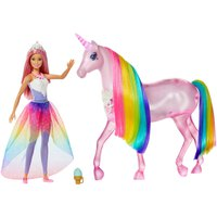 Barbie Dreamtopia Pink Hair & Unicorn Magical Lights