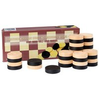 Abbey Draughts Pieces Set